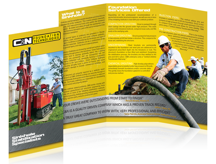 Brochure design - Horizon Environmental Construction Services - click for larger view
