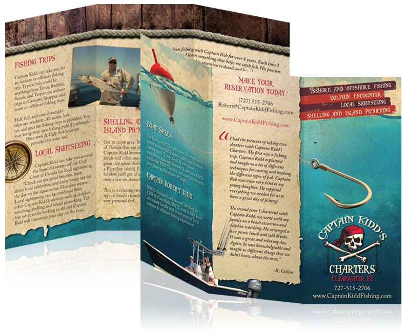 Print Brochure for Captain Kidd