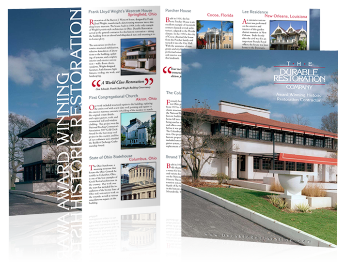 Brochure design for Durable Restoration