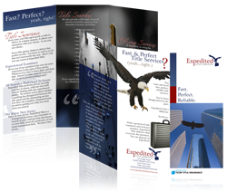 Brochure Design for Expedited Title Services