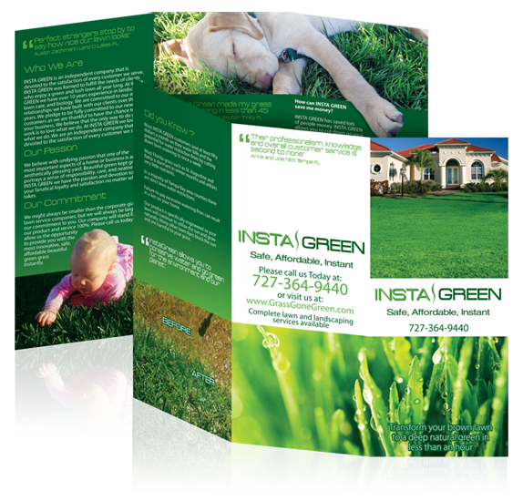 Brochure design for InstaGreen