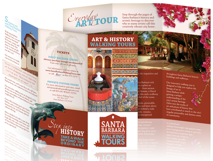 Brochure for Santa Barbara Walking Tours