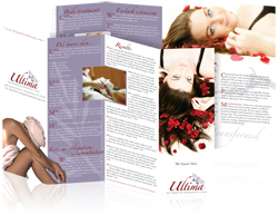 Brochure design for Ultima Skin Therapy