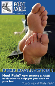 Post Card for Foot and Ankle Specialists